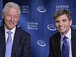 """GOOD MORNING AMERICA - George Stephanopoulos interviews former President Bill Clinton about the Clinton Global Initiative happening in New York City this week. The interview airs September 24, 2014 on """"Good Morning America"""" (Photo by Heidi Gutman/ABC via Getty Images) *** Local Caption *** BILL CLINTON; GEORGE STEPHANOPOULOS\nBILL CLINTON, GEORGE STEPHANOPOULOS"""