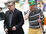 Stephen Baldwin shows off some wacky fashion while wearing a Manny Pacquiao hat in NYC.  Stephen was spotted carrying his skateboard while walking home from Whole Foods in NYC's SoHo neighborhood.  Pictured: Stephen Baldwin Ref: SPL1026442  140515   Picture by: Tom Meinelt / Splash News  Splash News and Pictures Los Angeles: 310-821-2666 New York: 212-619-2666 London: 870-934-2666 photodesk@splashnews.com