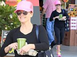 "Picture Shows: Reese Witherspoon  May 14, 2015\n \n 'Hot Pursuit' star Reese Witherspoon picks up her daily smoothie from Bristol Farms after her yoga class in Brentwood, California. A hiker on the Pacific Crest Trail found the boot that Reese tossed off a cliff while filming ""Wild"" back in 2013. \n \n Non-Exclusive\n UK RIGHTS ONLY\n \n Pictures by : FameFlynet UK © 2015\n Tel : +44 (0)20 3551 5049\n Email : info@fameflynet.uk.com"