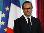 French President Francois Hollande attends the creative audacity prize award ceremony at the Elysee Palace in Paris, France on September 30, 2014.   AFP PHOTO / THOMAS SAMSON        (Photo credit should read THOMAS SAMSON/AFP/Getty Images)