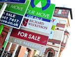 A general view of 'for sale' signs.  The Government's new Help to Buy scheme will enable people to buy a home with a deposit of less than £10,000 in more than half of regions across country, a property website has found. Aspiring home buyers will from this week be able to start applying for the second phase of the flagship initiative, which will offer state-backed mortgages to UK borrowers with deposits as low as 5%. The scheme, which has sparked fears of a new housing bubble, will give people a helping hand to buy a new or existing home worth up to £600,000.    File photo dated 12/10/10 of PRESS ASSOCIATION Photo. Issue date: Monday October 7, 2013. See PA story MONEY Help. Photo credit should read: Rebekah Downes/PA Wire