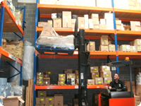 Warehouse with our catering equipment for next day delivery