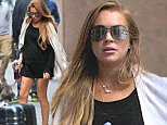 137260, Lindsay Lohan seen leaving her hotel in an all-black attire in NYC. New York, New York - Friday, May 15, 2015. Photograph: © PacificCoastNews. Los Angeles Office: +1 310.822.0419 sales@pacificcoastnews.com FEE MUST BE AGREED PRIOR TO USAGE