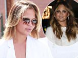 Picture Shows: Chrissy Teigen  May 14, 2015\n \n Model Chrissy Teigen seen leaving the Meche Salon after getting her hair done in Beverly Hills, California.\n \n Non Exclusive\n UK RIGHTS ONLY\n \n Pictures by : FameFlynet UK © 2015\n Tel : +44 (0)20 3551 5049\n Email : info@fameflynet.uk.com