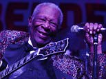 LAS VEGAS, NV - SEPTEMBER 26:  B.B. King performs at the 2014 Big Blues Bender at the Rivera Hotel & Casino on September 26, 2014 in Las Vegas, Nevada.  (Photo by Denise Truscello/WireImage)