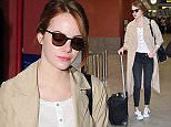 CANNES, FRANCE - MAY 16:  Emma Stone is seen at Nice Airport during the 68th annual Cannes Film Festival on May 16, 2015 in Cannes, France.  (Photo by Jacopo Raule/GC Images,)