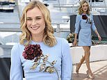 Diane Kruger arrives for a photo call for the film Maryland (Disorder), at the 68th international film festival, Cannes, southern France, Saturday, May 16, 2015. (AP Photo/Lionel Cironneau)