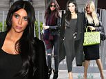 Kendall, Kim Kardashian leaving dinner party in BH with sister Khloe may 15, 2015