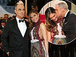 """CANNES, FRANCE - MAY 16:  Ayda Field and Robbie Williams attend the Premiere of """"The Sea Of Trees"""" during the 68th annual Cannes Film Festival on May 16, 2015 in Cannes, France.  (Photo by Gisela Schober/German Select)"""