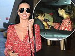 15.MAY.2015 - LOS ANGELES - USA *STRICTLY AVAILABLE FOR UK AND GERMANY USE ONLY* ** EXCLUSIVE ALL ROUND PICTURES ** MODEL MIRANDA KERR HAS A HAPPY REUNION WITH HER SON FLYNN AT LAX AIRPORT AFTER A PROMOTIONAL TOUR IN CANNES. THE VICTORIA'S SECRET MODEL WAS ECSTATIC AS HER SON FLYNN SURPRISED HER BY ARRIVING IN HER WAITING LIMOUSINE WITH A NANNY . THE PAIR ENJOYED A TICKLE SESSION BEFORE SHE GOT OUT SOME SWEETS SHE HAD BROUGHT BACK FROM FRANCE MUCH TO TO HIS EXCITEMENT. BYLINE MUST READ : XPOSUREPHOTOS.COM ***UK CLIENTS - PICTURES CONTAINING CHILDREN PLEASE PIXELATE FACE PRIOR TO PUBLICATION *** *UK CLIENTS MUST CALL PRIOR TO TV OR ONLINE USAGE PLEASE TELEPHONE 0208 344 2007*