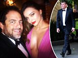 Miranda Kerr pictured with Director and business partner to James Packer Brett Ratner