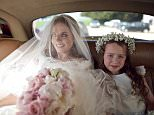 WOBURN, ENGLAND - MAY 15:  (EXCLUSIVE COVERAGE) (PREMIUM PRICES APPLY) Geri Halliwell and Bluebell Madonna Halliwell during the marriage of Geri Halliwell and Christian Horner at St Marys Woburn Parish Church on May 15, 2015 in Woburn, England.  (Photo by Joshua Lawrence/Getty Images)