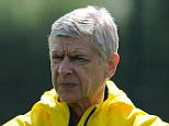 ST ALBANS, ENGLAND - MAY 16:  Arsenal manager Arsene Wenger during a training session at London Colney on May 16, 2015 in St Albans, England.  (Photo by Stuart MacFarlane/Arsenal FC via Getty Images)