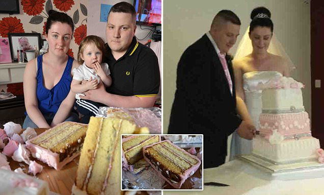 Bride breaks down in tears on her big day after discovering her dream £115 three-tier