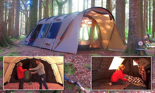 Camping gets comfortable: Insulated tent keeps you warm in winter, cool in summer and