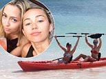 miley cyrus kayaking