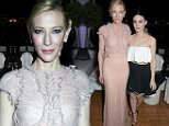 """CANNES, FRANCE - MAY 17:  Actress Cate Blanchett attends the """"Carol"""" party hosted by Chopard and Grey Goose at Baoli Beach, Cannes Film Festival on May 17, 2015 in Cannes, France.  (Photo by David M. Benett/Getty Images)"""