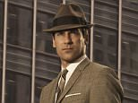 Mad Men pictured with muted suits with loud ties and shirts.  The 1960s style of hit US drama Mad Men has influenced modern suit shoppers.  Drama\Por Season 3 Picture shows: Don Draper (Jon Hamm). Generic. TX: BBC FOUR Wednesday 27th January 2010
