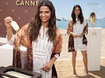 CANNES, FRANCE - MAY 17:  Camila Alves wearing the BCBGMAXAZRIA for MAGNUM Belgian Chocolate Wrap, an accessory infused with the aroma of chocolate, on May 17, 2015 in Cannes, France. The wrap will be available in the U.S. as a gift with purchase at BCBGMAXAZRIA stores and online in July 2015.  (Photo by Neilson Barnard/Getty Images for Magnum)