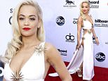 Rita Ora arrives at the Billboard Music Awards at the MGM Grand Garden Arena on Sunday, May 17, 2015, in Las Vegas. (Photo by Eric Jamison/Invision/AP)