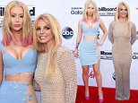 LAS VEGAS, NV - MAY 17:  Musician Iggy Azalea and musician Britney Spears attend the 2015 Billboard Music Awards at MGM Grand Garden Arena on May 17, 2015 in Las Vegas, Nevada.  (Photo by Jason Merritt/Getty Images)