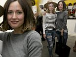 """Michelle Monaghan, Rose Mciver, Ricky Whittle, Rose Byrne, and others come for the opening night of Celebrity Photographer Tyler Shield's new exhibition 'Historical Fiction""""....Pictured: Rose McIver, Rose Byrne..Ref: SPL1024000  170515  ..Picture by: Thorpe / Splash News....Splash News and Pictures..Los Angeles: 310-821-2666..New York: 212-619-2666..London: 870-934-2666..photodesk@splashnews.com.."""