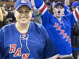 Actress Rebel Wilson attends New York Rangers Game 1 of the Eastern Conference Stanley Cup Final at Madison Square Garden with a friend in New York City.....Pictured: Rebel Wilson..Ref: SPL1016516  160515  ..Picture by: Anthony J. Causi / Splash News....Splash News and Pictures..Los Angeles: 310-821-2666..New York: 212-619-2666..London: 870-934-2666..photodesk@splashnews.com..