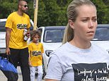 Picture Shows: Hank Baskett  May 17, 2015\n \n Couple Kendra Wilkinson and Hank Baskett watching their son Hank Jr. play baseball in Woodland Hills, California. Kendra cheered her boys on from the stands while Hank Sr. coached the team. \n \n Non-Exclusive\n UK RIGHTS ONLY\n \n Pictures by : FameFlynet UK © 2015\n Tel : +44 (0)20 3551 5049\n Email : info@fameflynet.uk.com