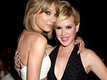 LAS VEGAS, NV - MAY 17:  Singer Taylor Swift (L) and actress Molly Ringwald attend the 2015 Billboard Music Awards at MGM Grand Garden Arena on May 17, 2015 in Las Vegas, Nevada.  (Photo by Jeff Kravitz/BMA2015/FilmMagic)