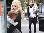 May 17, 2015: Gwen Stefani, Gavin Rossdale, Zuma Rossdale, Apollo Rossdale, and Kingston Rossdale out for lunch in Los Angeles, CA.\nMandatory Credit: INFphoto.com Ref. inf-00