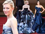 """CANNES, FRANCE - MAY 17:  Actress Cate Blanchett attends the Premiere of """"Carol"""" during the 68th annual Cannes Film Festival on May 17, 2015 in Cannes, France.  (Photo by Pascal Le Segretain/Getty Images)"""