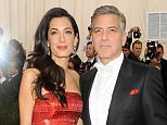"""NEW YORK, NY - MAY 04:  George Clooney and Amal Alamuddin arrives at """"China: Through The Looking Glass"""" Costume Institute Benefit Gala at the Metropolitan Museum of Art on May 4, 2015 in New York City.  (Photo by Rabbani and Solimene Photography/Getty Images)"""