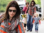 """Picture Shows: Neve Campbell, Caspian Feild  May 17, 2015\n \n """"Scream"""" star, Neve Campbell, takes her son Caspian to the farmer's market in Studio City, California. \n \n Two weeks ago Neve made her first ever horror convention appearance when she attended the Texas Frightmare.\n \n Exclusive - All Round\n UK RIGHTS ONLY\n \n Pictures by : FameFlynet UK © 2015\n Tel : +44 (0)20 3551 5049\n Email : info@fameflynet.uk.com"""