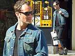 OIC - XCLUSIVEPIX.COM -  EXCLUSIVE CALL    07768836669 FOR FEES  Jude Law is seen in North London wearing brogues with no socks as he walks to Odd bins from his house to stock up  London 16th may 2015     Photo Frank Doran/Xclusive Pix/OIC 0203 174 1069