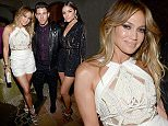 """LAS VEGAS, NV - MAY 17:  (L-R) Singers Jennifer Lopez and Nick Jonas and actress Olivia Culpo attend the Nick Jonas """"Live In Concert"""" Tour Announcement and Billboard Music Awards After Party at The Mansion at the MGM Grand on May 17, 2015 in Las Vegas, Nevada.  (Photo by Kevin Mazur/BMA2015/WireImage)"""
