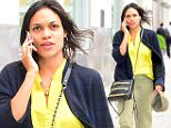 Rosario Dawson was spotted strolling through the East Village on Monday afternoon. She chatted happily on her cellphone while casually walking down the street. She sported a cheery yellow blouse with khaki pants and leather flats. \n\nPictured: Rihanna\nRef: SPL1030430  180515  \nPicture by: 247PAPS.TV / Splash News\n\nSplash News and Pictures\nLos Angeles: 310-821-2666\nNew York: 212-619-2666\nLondon: 870-934-2666\nphotodesk@splashnews.com\n