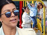 **EXCLUSIVE** CREDIT: MOVI Inc.  Date: May 16th 2015\\nEver the doting mother Kourtney Kardashian spends a quality afternoon with two of her three children, Mason,6, and Penelope,3 in Malibu,Ca. After having some fun in the park where Penelope got some help form mom on the monkey bars, the group headed to a local toy store before fueling up with some Greek food at famous Taverna Tony's restaurant.