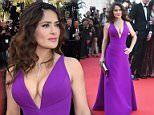 """CANNES, FRANCE - MAY 17:  Actress Salma Hayek and husband Francois-Henri Pinault attend the Premiere of """"Rocco And His Brothers"""" during the 68th annual Cannes Film Festival on May 17, 2015 in Cannes, France.  (Photo by Pascal Le Segretain/Getty Images)"""