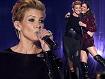LAS VEGAS, NV - MAY 17:  Recording artists Faith Hill (L) and Karen Fairchild of Little Big Town perform onstage during the 2015 Billboard Music Awards at MGM Grand Garden Arena on May 17, 2015 in Las Vegas, Nevada.  (Photo by Ethan Miller/Getty Images)
