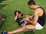 Cristiano Ronaldo's son puts him to shame with sit ups - 1184103 (GRABS IN PMS)