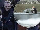 May 17, 2015: May 17, 2015  Daniel Craig and LÈa Seydoux filming the new James Bond movie Spectre on the River Thames in London.\n \n The dramatic scenes see a helicopter being chased down the river by James Bond in a speed boat between Westminster and Vauxhall bridges passing MI5 and the Houses Of Parliament.  Non Exclusive Worldwide Rights Pictures by : FameFlynet UK © 2015 Tel : +44 (0)20 3551 5049 Email : info@fameflynet.uk.com