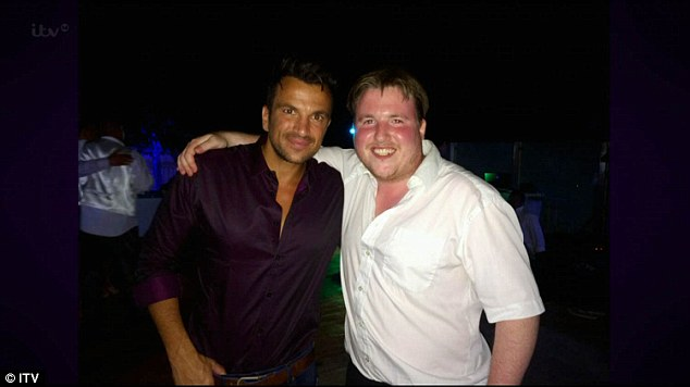 Celeb pals: Before performing, Paul revealed that he'd hosted a wedding for Peter Andre's brother in Cyprus