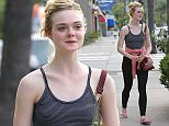Picture Shows: Elle Fanning  May 18, 2015    'Three Generations' actress Elle Fanning is seen leaving a nail salon after getting a mani/pedi in Studio City, California.     'Three Generations' was purchased for 6 million dollars by the Weinstein Company after a promo showing at the Cannes Film Festival on Friday.    Exclusive - All Round  UK RIGHTS ONLY    Pictures by : FameFlynet UK © 2015  Tel : +44 (0)20 3551 5049  Email : info@fameflynet.uk.com