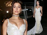 Celebrities at the Chopard G.O.L.D. Party in Cannes.  Pictured: Hailey Baldwin Ref: SPL1029000  180515   Picture by: Machete / Splash News  Splash News and Pictures Los Angeles: 310-821-2666 New York: 212-619-2666 London: 870-934-2666 photodesk@splashnews.com