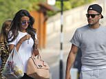 EXCLUSIVE ALL ROUND PICTURE: UNIQUE PICTURES / MATRIXPICTURES.CO.UK PLEASE CREDIT ALL USES WORLD RIGHTS English actress and model Michelle Keegan and her fiance, Mark Wright are pictured as they leave their local Tesco's together, in London.  Mark has just returned home from his 5 day long stag party in Las Vegas. It seems as though Michelle missed Mark whilst he was away, as she replied 'About time! You've been having too much fun!' to his last tweet before he left for home. Although, it would appear the 27 year old was against his fashion choice in the photo, as she added 'Pull your socks down though' to the end of her tweet!  MAY 12th 2015 REF: DBW 151485