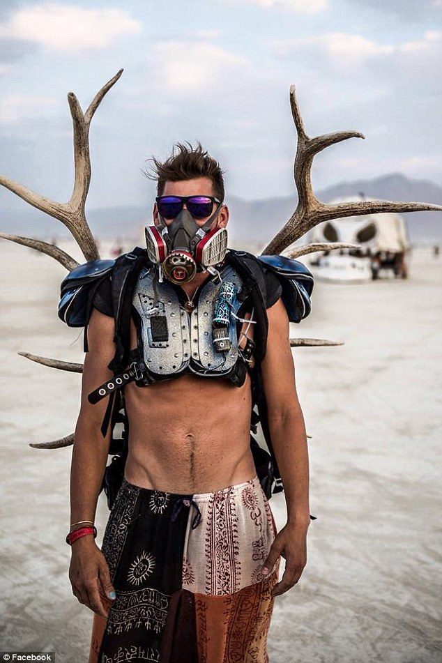 The Google engineer uploaded this picture while attending Burning Man in the Black Rock Desert, Nevada