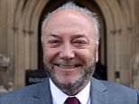 Bradford West MP George Galloway in front of the Houses of Parliament before being sworn in as an MP later today.