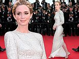 """CANNES, FRANCE - MAY 19:  Emily Blunt attends the Premiere of """"Sicario"""" during the 68th annual Cannes Film Festival on May 19, 2015 in Cannes, France.  (Photo by Gisela Schober/Getty Images)"""