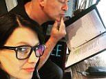 """Morning study session #HilariaWritesABook #AlecLearnsHisLines #AllMySons"" May 19, 2015"