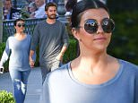 Calabasas, CA - Kourtney Kardashian and Scott Disick appeared to be refreshed after returning from a recent vacation and enjoying a sushi dinner at Sugar Fish in Calabasas. They romantically strolled through the Commons holding hands, while exuding true love. Perhaps the love quarrels are finally over?\nAKM-GSI           May 18, 2015\nTo License These Photos, Please Contact :\n \n Steve Ginsburg\n (310) 505-8447\n (323) 423-9397\n steve@akmgsi.com\n sales@akmgsi.com\n \n or\n \n Maria Buda\n (917) 242-1505\n mbuda@akmgsi.com\n ginsburgspalyinc@gmail.com